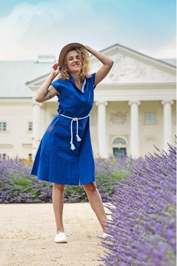 Košilové šaty POPPY - BLUE